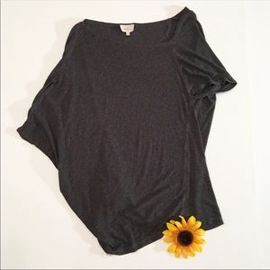 Anthropologie Deletta gray relaxed for top medium